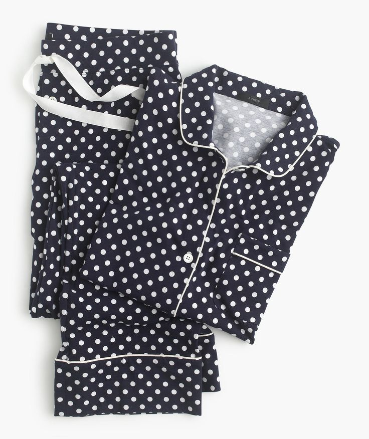 dotted cotton pajama set