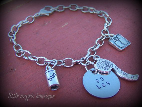 Hand Stamped Weight Loss Accomplishment by littleangelsboutique, $25.00
