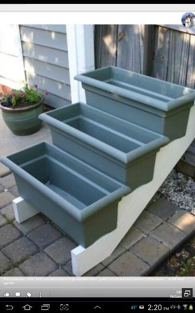 Herb Garden- add some dividers in each box for containment and this would be wonderful
