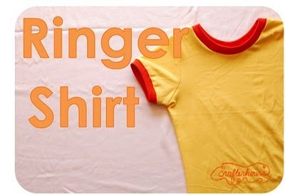 crafterhours: The Ringer Shirt: A Tutorial. Make a kid's shirt from an old, adult shirt. Great idea. If only one of us sewed.