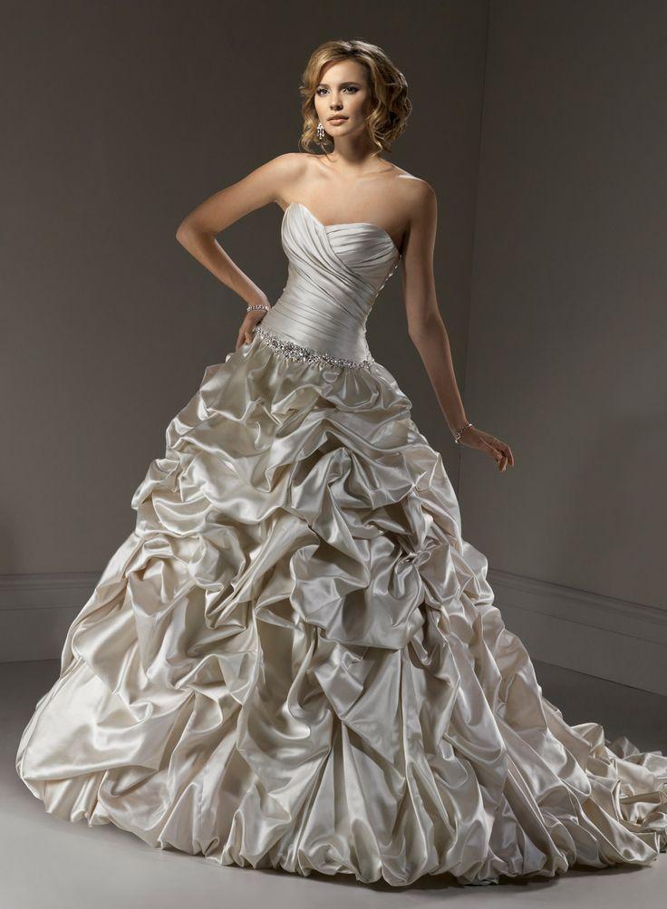 Robe de bal sweetheart robe de mariage en satin - Robes de Mariage Boutique