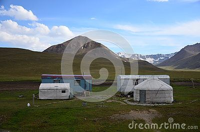 Traditional Nomad tents in Tian Shan mountains, Kyrgyzystan