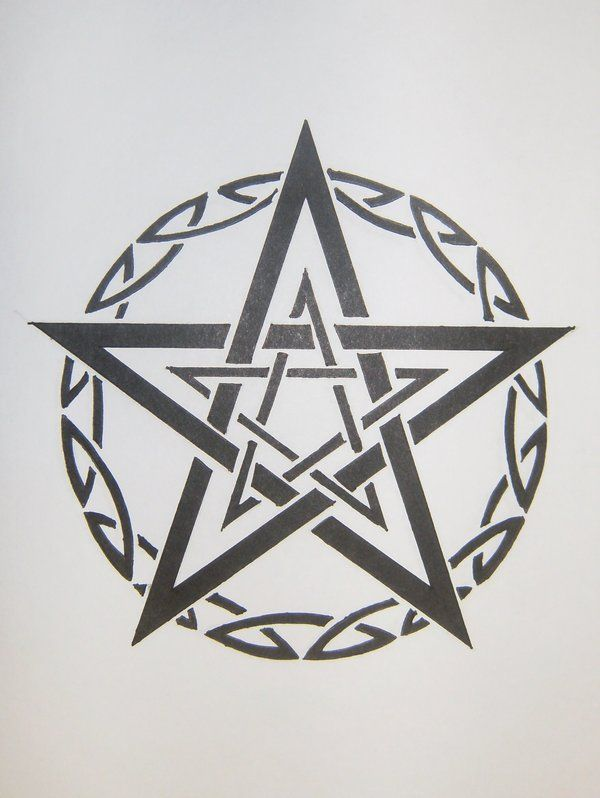 Tribal Pentagram by MagpieVon.deviantart.com on @DeviantArt