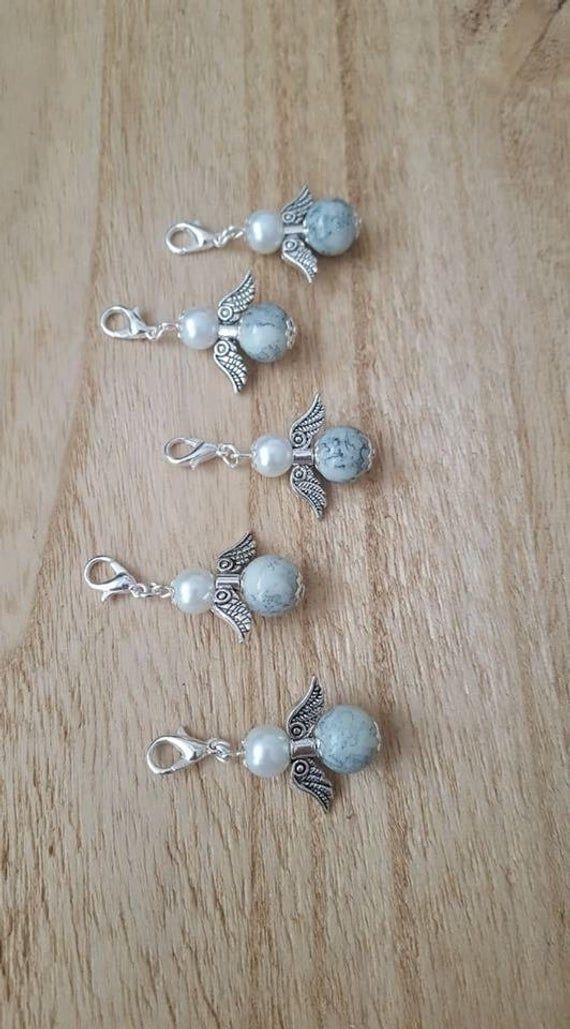 10 Stück Anhänger Gastgeschenk Perlenengel Engel, Taufe, Hochzeit, Kommunion – zuzi's deko