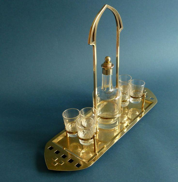 Jugendstil  -art nouveau  liqueur set http://www.benl.ebay.be/itm/191777452476?ssPageName=STRK:MESELX:IT&_trksid=p3984.m1555.l2649