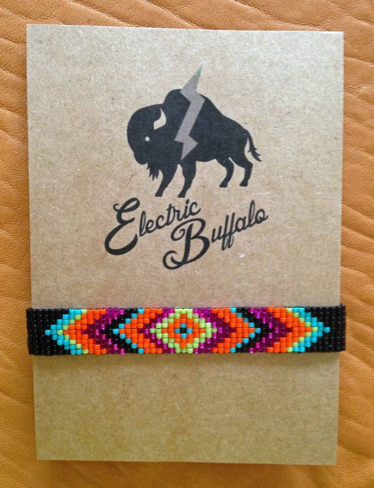 Neon Diamond Beaded Bracelet by ShopElectricBuffalo on Etsy