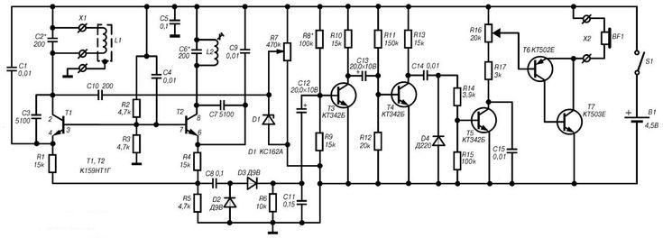 Garrett Metal Detector Wiring Diagram