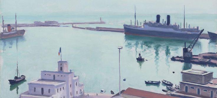 «Port d'Alger (La Douane ou l'Amirauté)» d'Albert Marquet, 1941, huile sur toile.