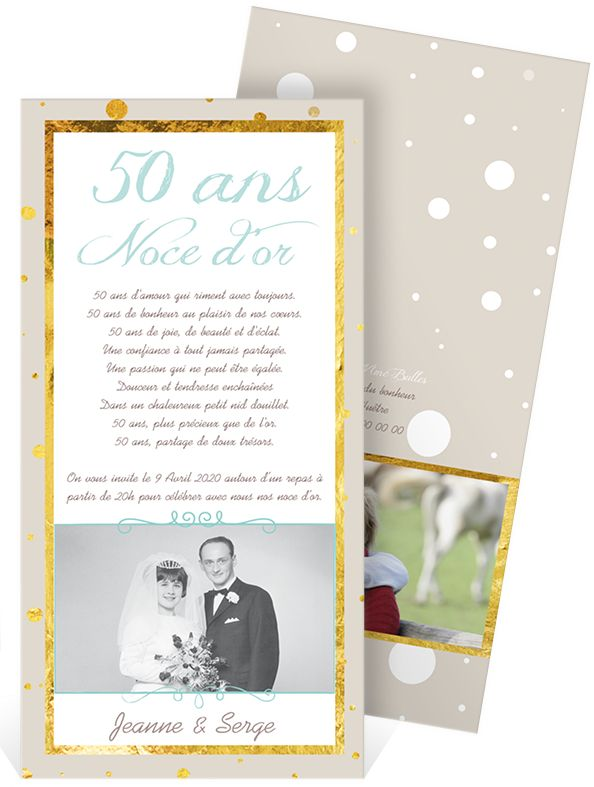 Bekannt 46 best Invitation anniversaire de mariage images on Pinterest  LY85