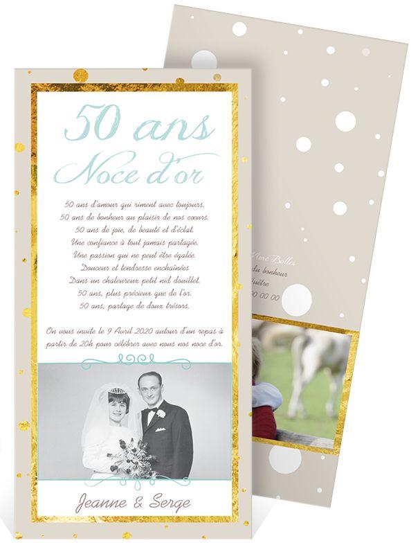 Texte pour invitation 50e anniversaire de mariage for Robes formelles pour 50e anniversaire de mariage