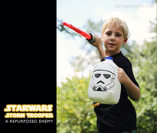 Star Wars Repurposed Milk Carton Kids Craft   Kids   Pinterest