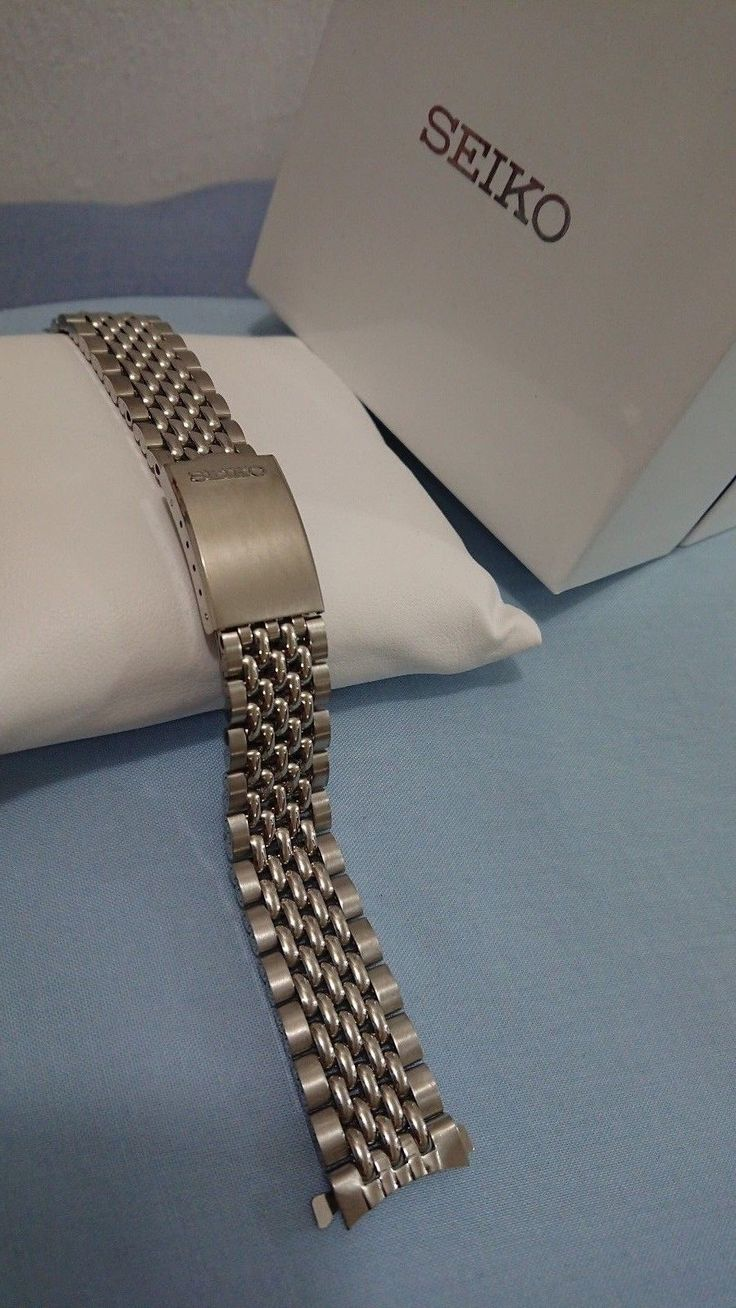 Vintage Seiko watch Band NOS Beads of Rice 18mm curved ends 1960s/70s bracelet 7 | eBay