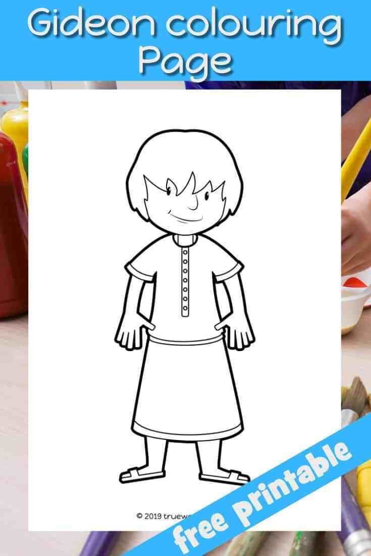Gideon S Calling Coloring Page Free Bible Lesson For Under 5s