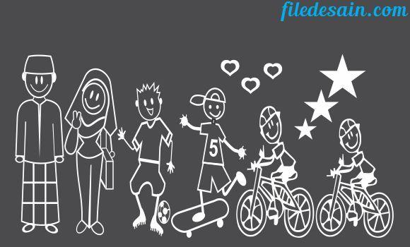 Download File CorelDraw Sticker Happy Family Part3