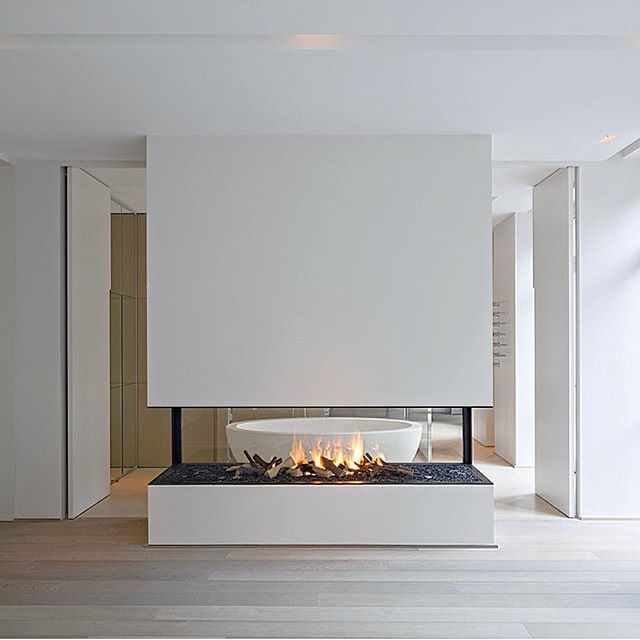 20 Gorgeous Two-Sided Fireplaces For Your Spacious Homes  tags: double sided fireplace design, double sided airtight fireplace, double sided wood fireplace australia, double sided fireplace bedroom, double sided fireplace bathroom bedroom, double sided gas fireplace prices, double sided glass fireplace