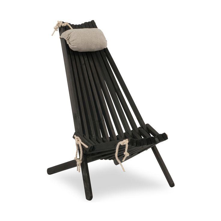 Ribbon alias EcoChair är en helt igenom ekologisk stol, tillverkad av svartbetsad furu och hamparep. Reglerbar i två lägen. Till stolen finns även en fotpall utformad enligt samma teknik. Ribbon passar in i de flesta miljöer – såväl inomhus som på trädäcket, balkongen eller campingen. Nackkudde säljs separat. Furustolen är värmebetsad med svart pigment. Den …