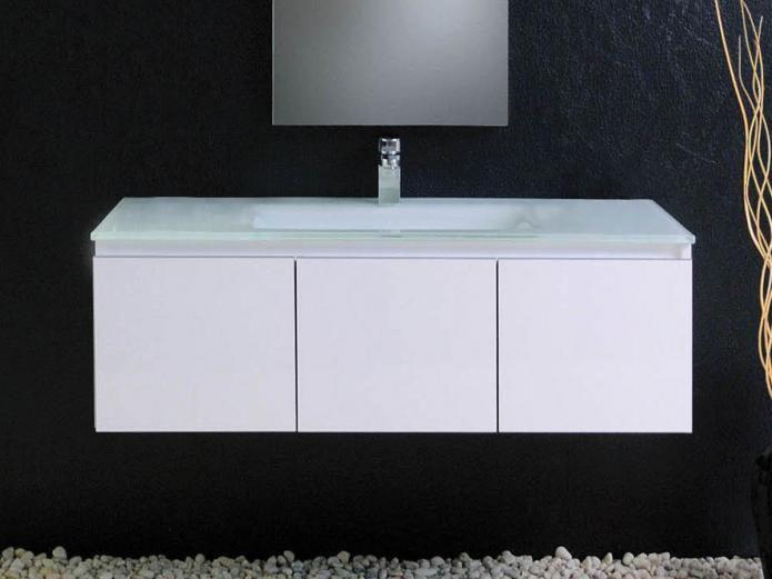 32 best stylish bathrooms images on pinterest basin mixer bath vanities and bathroom vanities for Glass top bathroom vanity units