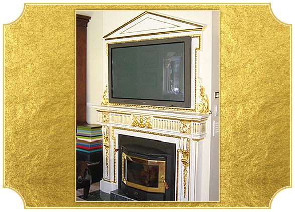 Fire Place. Residential Projects | Residential Gilding Projects | Art Gilding http://www.artgilding.com.au