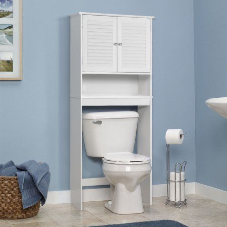 gymax bathroom space saver over the toilet shelved storage cabinet rh co pinterest com