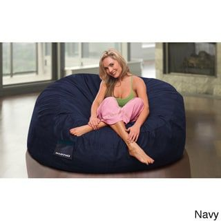 Sumo Sultan Microsuede Bean Bag Chair (Navy), Red, Size Large