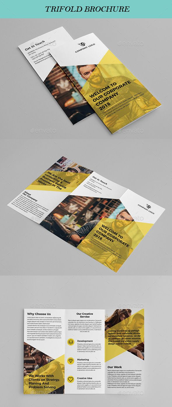 Tri Fold Brochure Template Vector EPS, AI Illustrator