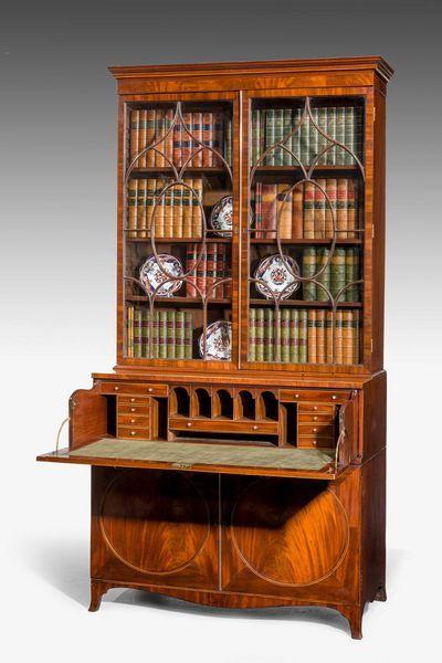 george iii mahogany secretaire bookcase ref no 6034 windsor rh pinterest com