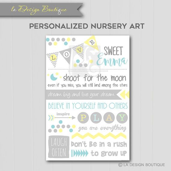 Sweet Baby Nursery Room Typography Poster Art This fun, neutral color and inspiring inspirational print is perfect for any nursery room for a girl or boy. The soft pastel colors create a calm yet fun look. Frame them as you like! Move them around as you like! Own fine art without the fine art prices! This purchase will include high resolution jpeg files available for download immediately after you pay of the following listed:  1. Sweet Baby Print (24x36)  *if you would like a different…