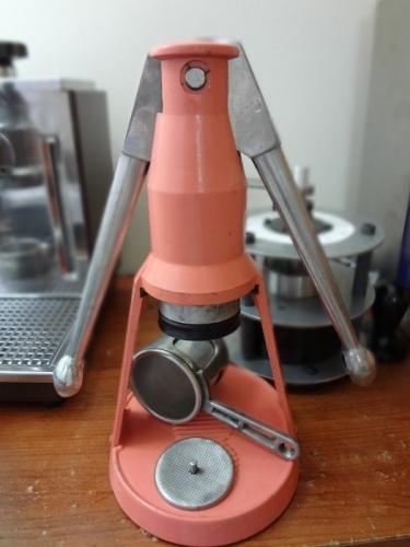 A unique lever espresso machine maker faema baby for Small apartment coffee maker