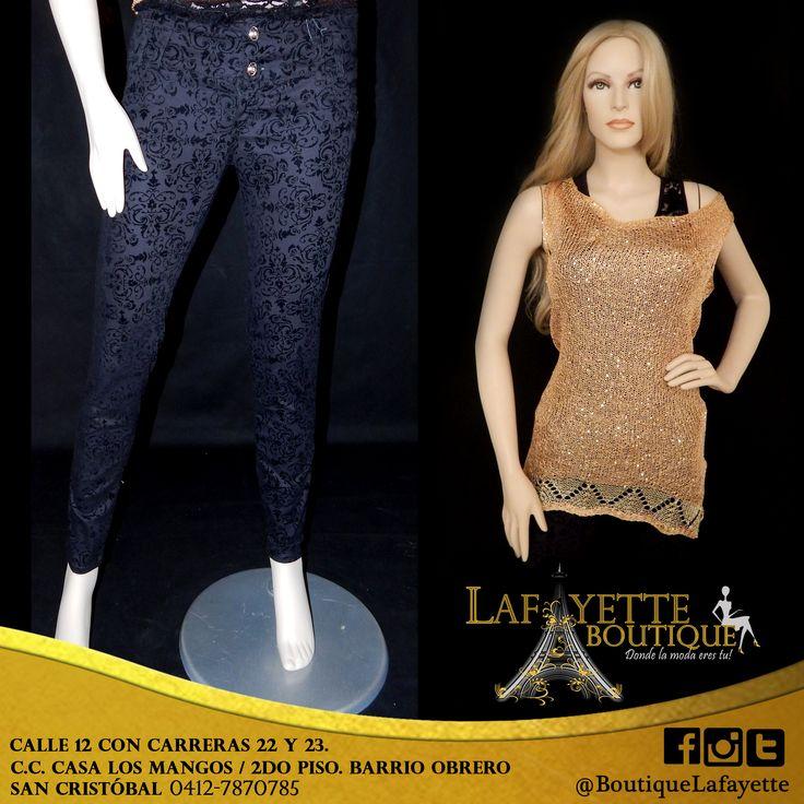 Combinación de atuendo MissLulú y Moda Fuera de Serie. Disponible en Lafayette Boutique de Barrio Obrero. Consultar disponibilidad al 0412-7870785