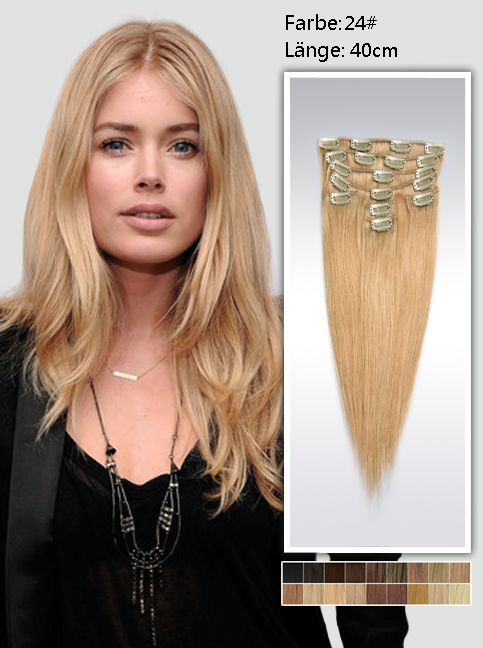 Best 23 Clip In Extensions Echthaar Images On Pinterest Hairdos