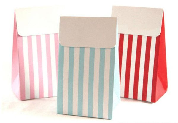 Party Treat Bags - Red Striped
