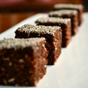 Chocolate Oat Energy Squares