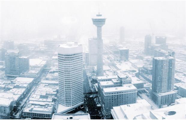 Calgary in the snow