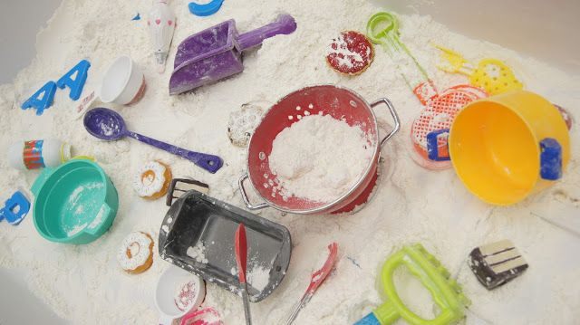Baking Sensory Bin Dramatic Play Pinterest Sensory