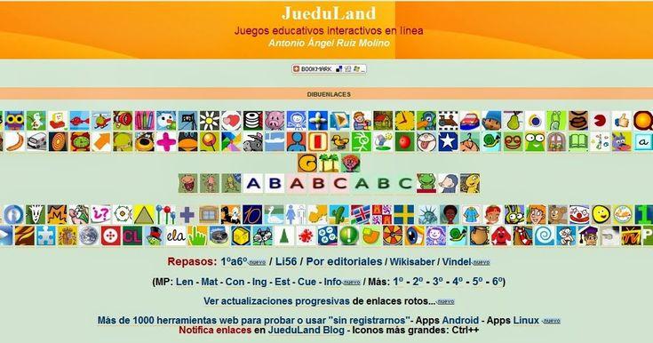 JueduLand es una web en la que podrás encontrar  recursos TIC para todos los niveles educativos y para cualquier área . Es una banco de r...