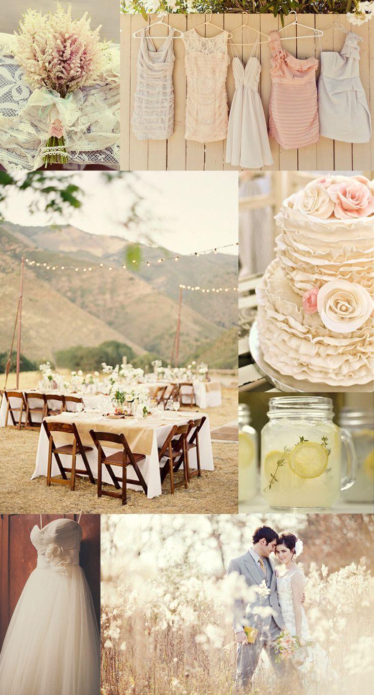 Beautiful and soft rustic chic wedding inspiration board!