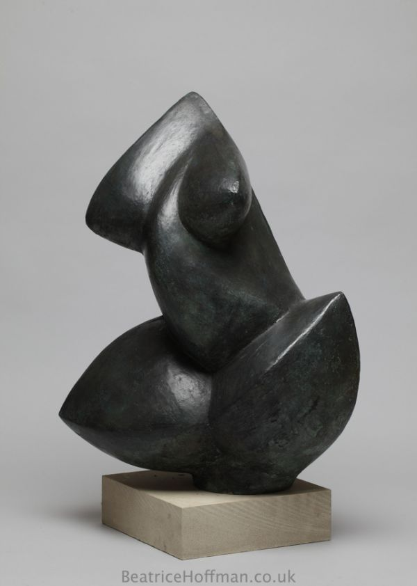 Bronze resin Abstract Contemporary or Modern Outdoor Outside Exterior Garden / Yard Sculptures Statues statuary sculpture by artist Beatrice Hoffman titled: 'abstract Torso (Minimalist modern nude statue)'