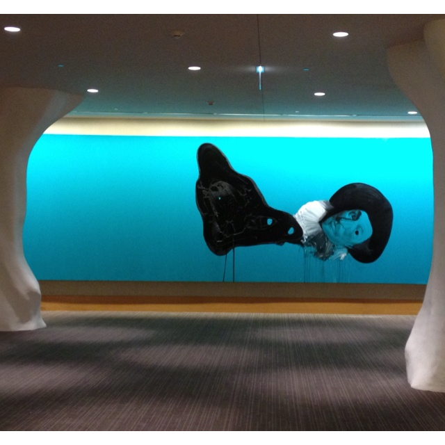 """""""Untitled"""" by Wesley Kimler (alkyd resin on canvas), installation at the Intercontinental O'Hare"""
