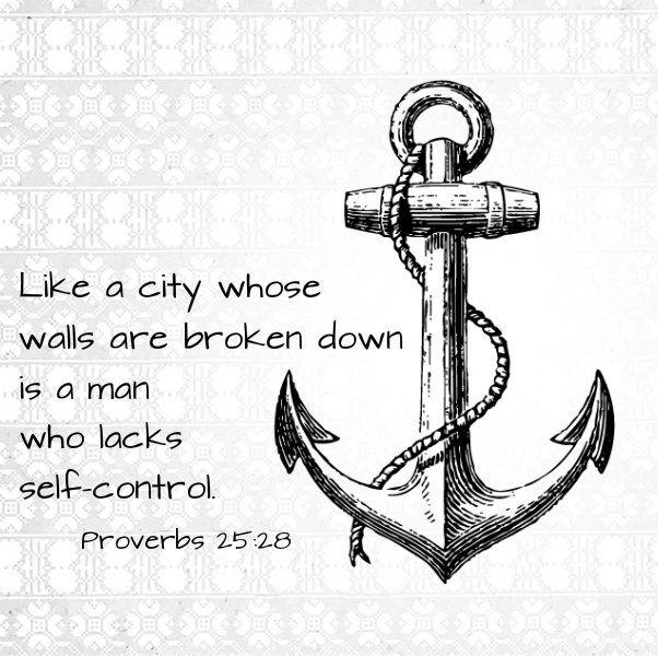 Self-control is a fruit of the Spirit. Read more on my blog: http://findingjoyandbeauty.blogspot.fi/2014/02/soul-sunday-self-control.html