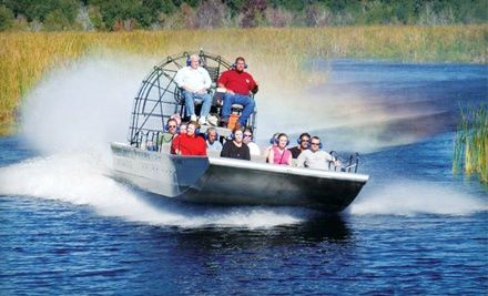 Everglades tours include airboat ride through swamplands  (Everglades, Florida)