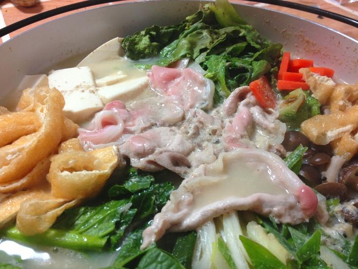 Tonyu Nabe  -Pot of soup soymilk