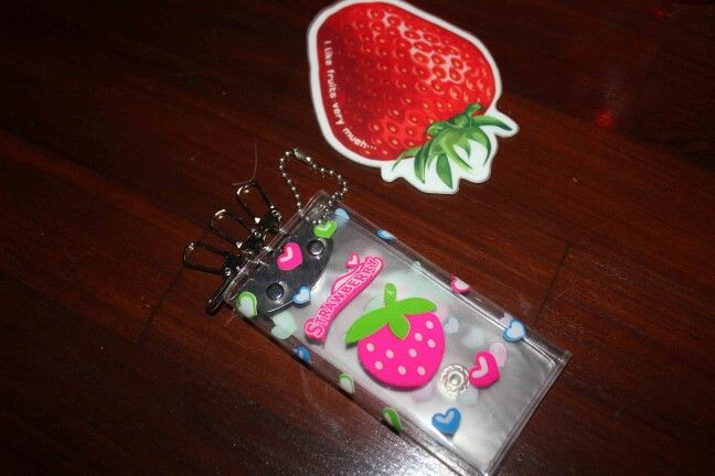 Strawberty keychain
