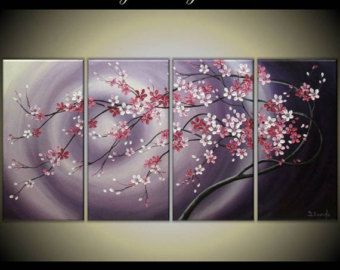 Original Impasto Modern Painting on  Gallery wrapped Canvas 24