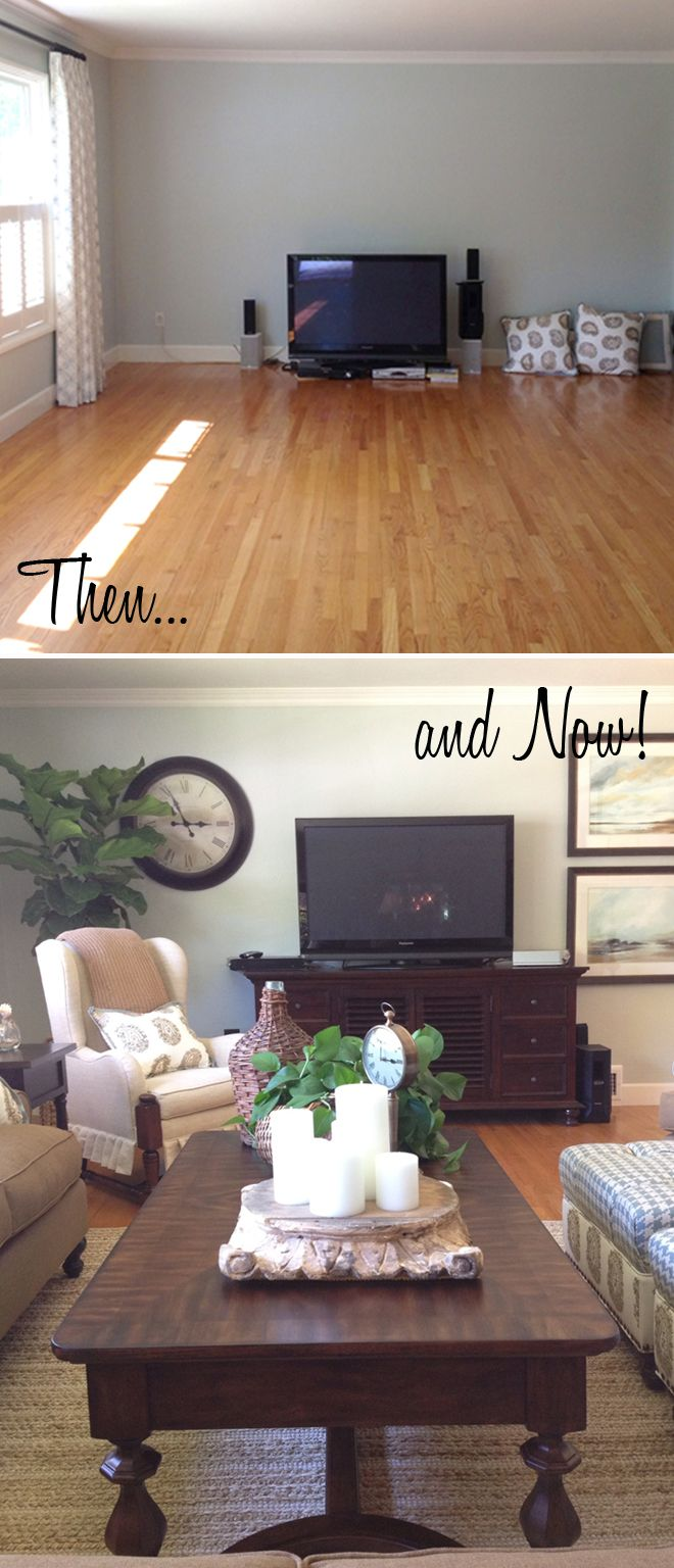 Before and After Living room Designed
