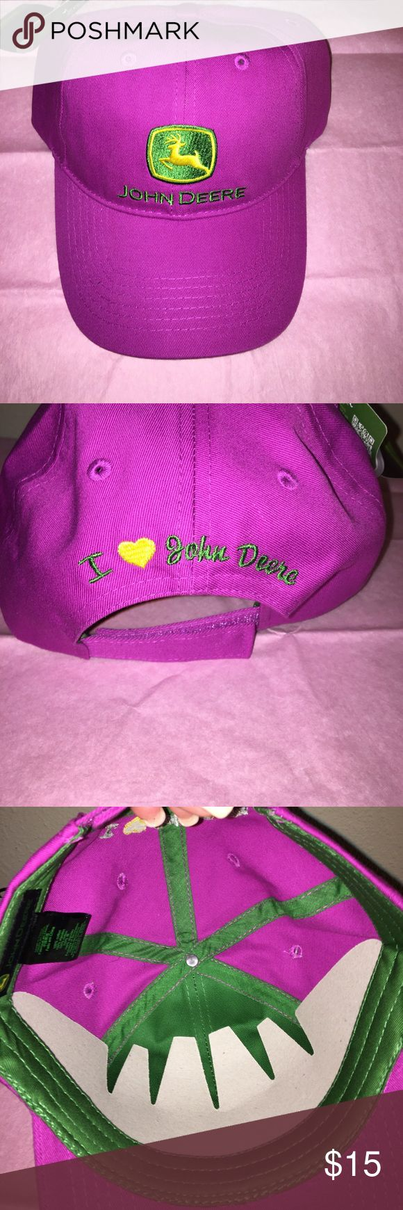 John Deere Hat Purple John Deere hat with tags. John Deere Accessories Hats