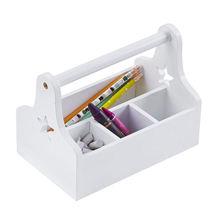 Boite de rangement type boite à outils Star Kids' Concept - blanc