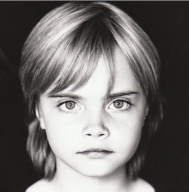 Baby Cara...she still has better eyebrows then anyone.