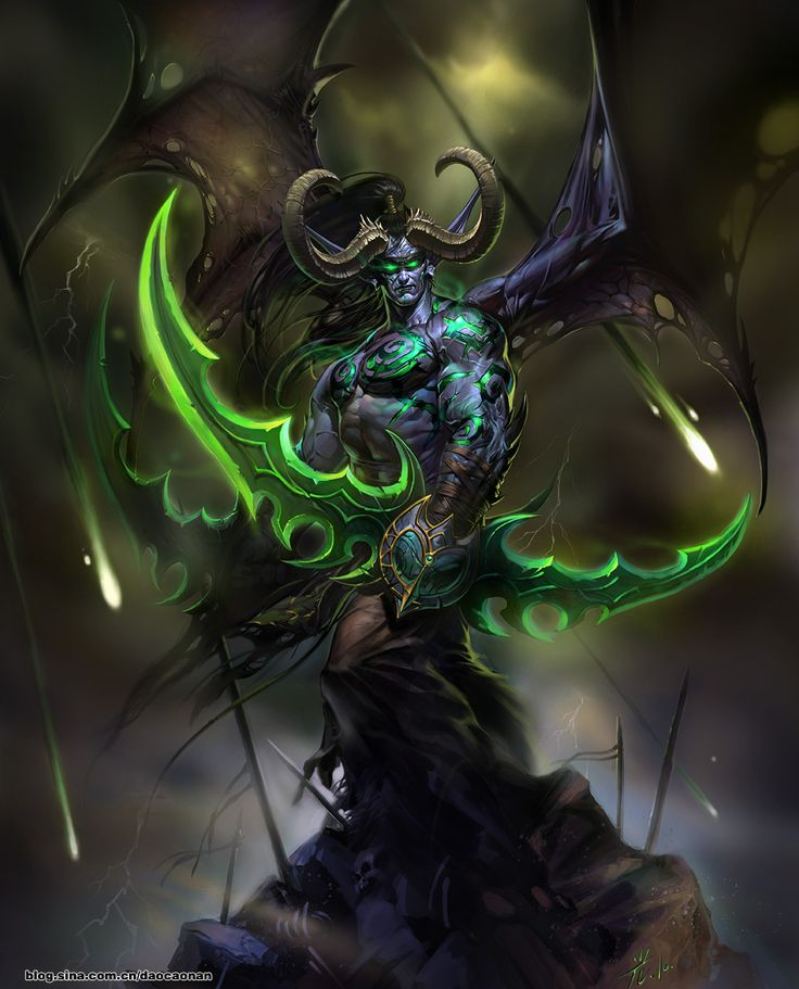 Illidan - World of Warcraft, can't wait to see my favourite character again in Legion!