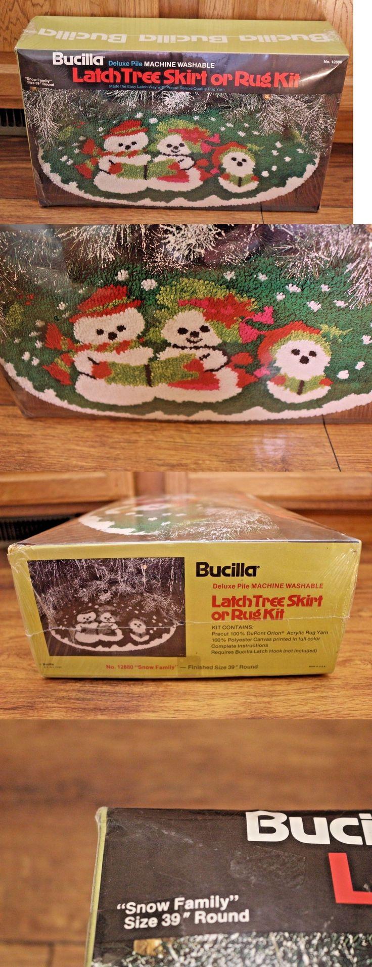Latch Hooking Kits 28148 Bucilla Hook Tree Skirt Or Rug Kit 12880 Snow