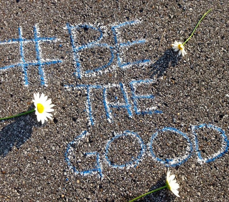 Paula Claunch:  AKA Jane Random Blog // So cute! Paula accepted our #BeTheGood challenge, and one of the adorable things she did was decorate a nearby running track with motivational phrases! #JaneCares #BeTheGood